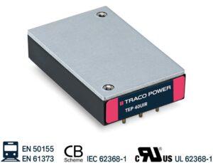 Новые преобразователи DC/DC от Traco Power серий TEP 40 / 60UIR 40 и 60 Вт с очень широким диапазоном входного напряжения 12: 1